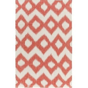 Diamond Orange Ikat Rug
