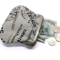 Fabric coin purse - Large size
