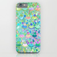 Art Deco Watercolor Patchwork Pattern 1 iPhone & iPod Case by Micklyn