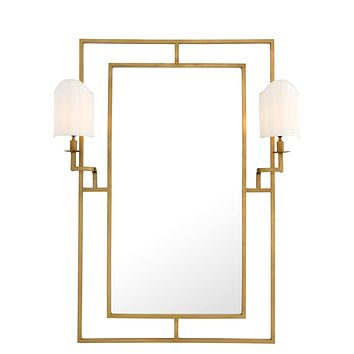 Gold Mirror With 2 Lamps | Eichholtz Astaire
