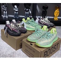 ADIDAS Yeezy Boost 350 V2 Couple Starry Luminous Casual Sneakers Black
