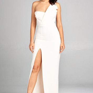 Angel Wing One Shoulder Nught Out Dress