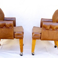 Pair of vintage office chairs