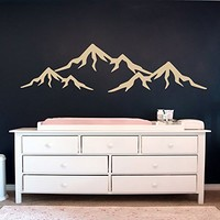 Mountain Wall Decal Vinyl Decor Boy Nursery Decal Baby Wall Decal Mountain Art Decal Boys Bedroom Decor Vinyl Stickers SN108