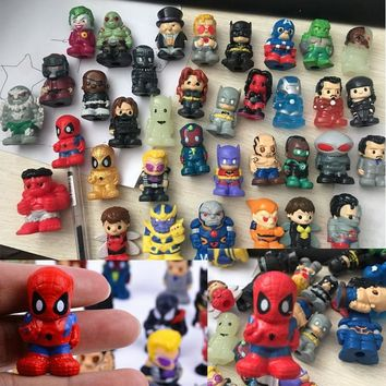 New toys! 8pcs/lot Mini the Avengers doll Spider man figures action toys Cap of a pen boy toys (free to Russia)