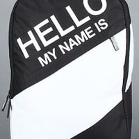 The Hello My Name Is Backpack in Black : Sprayground : Karmaloop.com - Global Concrete Culture
