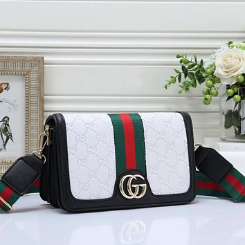Gucci Women Sell Well Fashion Print Crossbody Handbag Shoulder Bag