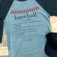 Baseball Description Raglan {Charcoal Mix} Extended Sizes