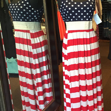 Red, White & Blue Maxi