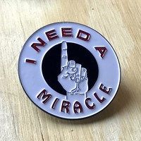GRATEFUL DEAD PIN: I Need a Miracle, Enamel Pin, Grateful Dead Lapel Pin, Deadhead, Grateful Dead Gift, Vintage Pins - Great Gift!