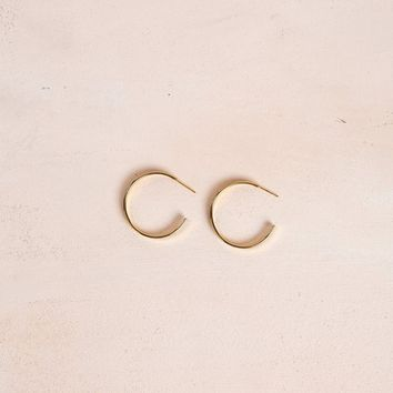 Callie Gold Hoop Earrings