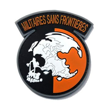 Metal gear solid without borders the army of PVC  tactical military patches badges stickers 6*7CM