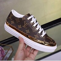 LV Louis Vuitton Old Skool Women Casual Fashion Flats Shoes