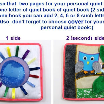 Quiet book Busy book Activity book page Soft felt book Toddler educational book Fabric book Baby toy Learning children book Montessori book