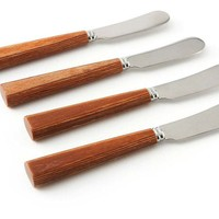 One Kings Lane - The Natural Look - S/4 Spreaders, Natural Wood