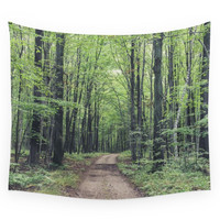 Society6 Forest Path Wall Tapestry