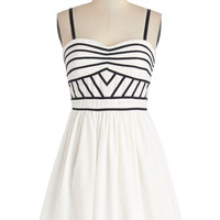 ModCloth Short Strapless A-line Terrace Toast Dress