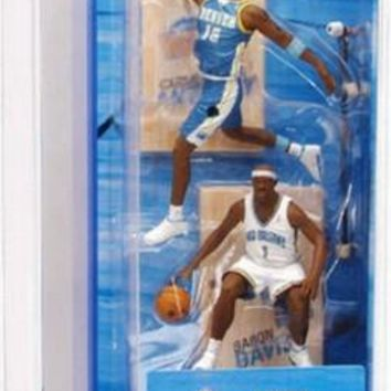 Carmelo Anthony Denver Nuggets Baron Davis New Orleans Hornets McFarlane 2 Pack Figures