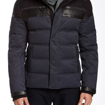 Rogue State Faux Suede Puffer Jacket