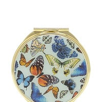 Butterfly Print Mirror Compact