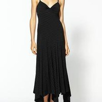 ELLA MOSS $198 BLACK WALDO STRIPE LONG JERSEY MAXI DRESS M