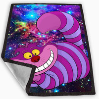 Alice Wonderland Cheshire Cat Nebula Blanket for Kids Blanket, Fleece Blanket Cute and Awesome Blanket for your bedding, Blanket fleece **