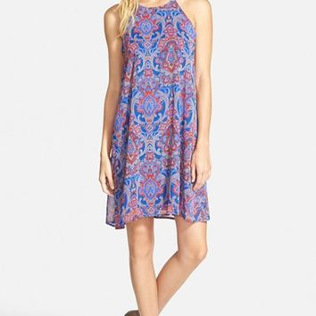 Junior Women's Everly Paisley Halter Swing Dress