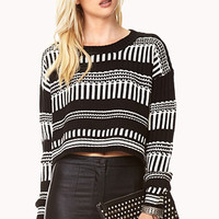 No Grey Area Cropped Sweater
