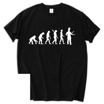 Chef Evolution Cook Restaurant Master Printed T-shirt - Men's Crew Neck Novelty T-Shirt