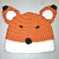 Fox Animal hat for babies and toddlers. Newborn photo prop.