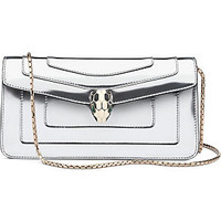 BVLGARI - Serpenti Forever metallic leather shoulder bag | Selfridges.com