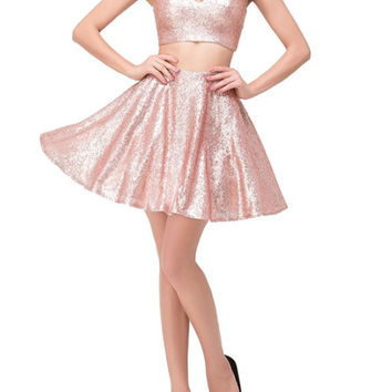 Homecoming Dresses, Champine Sequins Homecoming Dresses