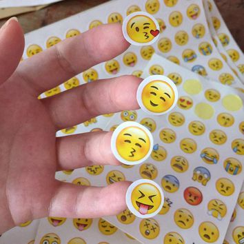 DCCKL72 (1Sheet/Sell) Emoji Smile Face Diary Stickers Post it Kawaii Bookmarks Delicate For Book Creative Item Kids Korean Stationery