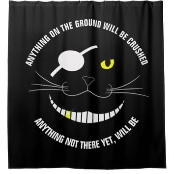 Funny Pirate Smiling Cat With An Eye Patch Shower Curtain
