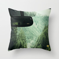 Forestry Throw Pillow by Hannah Kemp