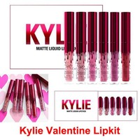 Kylie Jenner lipgloss Cosmetics Matte lipsticks Kylie Valentines collection Lip gloss Valentine Edition Kit Lip 6 Colors set