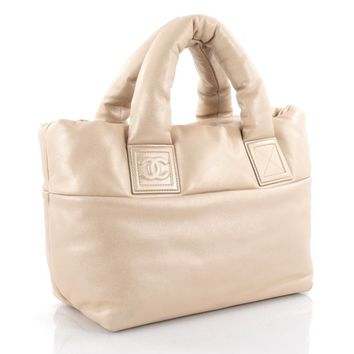 Chanel Beige Leather Coco Cocoon Tote