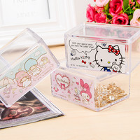 Cute Cartoon Jewelry Box Hello Kitty Makeup Organizer Stackable Storage Compartment Transparent Storage Box-in Storage Boxes & Bins from Home & Garden on Aliexpress.com | Alibaba Group