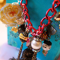 Chinatown Chic Charm Bracelet by athinalabella on Etsy