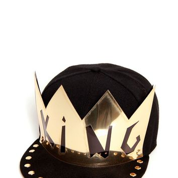 'KING' Crown Snapback Cap