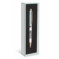 HUSTLE Pen in Gift Box in Mint and Gold
