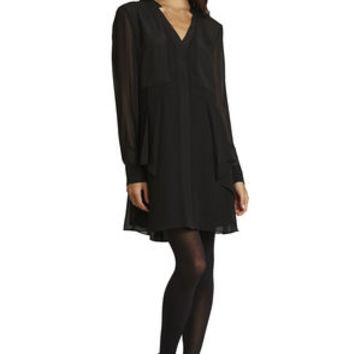 Flounce-Front Dress in Black - BCBGeneration