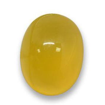 5.49 ct  Oval Cabochon Yellow Agate 12.3 x 9.5 mm