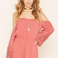 Gauze Open-Shoulder Romper | Forever 21 - 2000178569