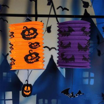 CREYET7 Halloween Decoration Hanging Props Ghost Bat Skull Paper Lanterns Funny Door Hanger Halloween Party Props Decoration