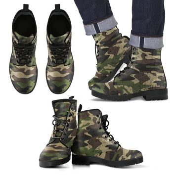 Camouflage Eco Leather Boots