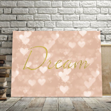 Dream, Bedroom decor, wall art, printable art,instant download, poster art, typography quote