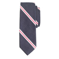 ENGLISH COTTON REPP TIE IN BAY STRIPE