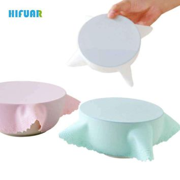 Hifuar Food Keeping Saran Food Grade Silicone Wrap Lid High Stretch Seal Vacuum Container Cover Storage lids Cookware Parts Tool