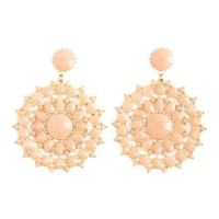 Beaded Filigree Disk Earrings: Charlotte Russe